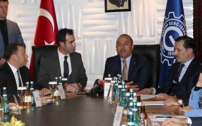 Dışişleri Bakanı Mevlüt Çavuşoğlu'nu derneğimizde ağırladık