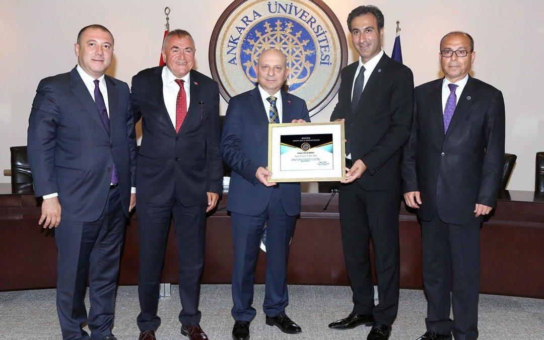 Ankara Üniversitesi Rektörü Prof. Dr. Erkan İbiş Ziyareti