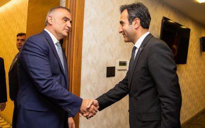 Kültür ve Turizm Bakanı Mehmet Nuri Ersoy'u ziyaret ettik
